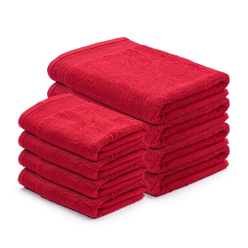 Doživite razkošno udobje v svoji kopalnici! Kakovostna brisača Prima iz bombažnega frotirja je trpežna, mehka, vpojna in se hitro suši. Klasična enobarvna brisača s strukturno borduro na robovih. Brisača je pralna na 60 °C. Brisače v dveh dimenzijah: 50 x 100 cm in 70 x 140 cm.