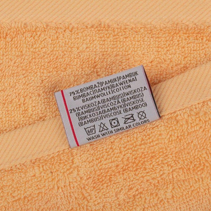 Doživite razkošno udobje v svoji kopalnici! Kakovostno brisačo Bamboo II iz kombinacije bombaža in bambusovih vlaken odlikuje lastnost boljše, večje vpojnosti in hitrega sušenja. Zaradi svoje gostote in voluminoznosti spada med premium brisače. Krasi jo reliefna struktura po celotni površini. Brisača je pralna na 60 °C.