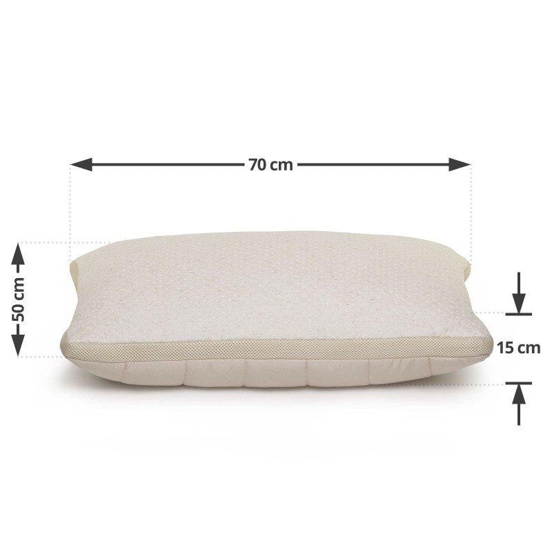 Klasična oblika vzglavnika Cannabia Soft vas bo zagotovo prepričala s svojo univerzalnostjo, saj je primerna za vse spalne položaje in vse, ki vzglavnik med spanjem radi mečkate in zvijate. V prevleko vzglavnika so všita konopljina vlakna, ki prinašajo izjemno zračnost in podaljšujejo obstojnost in življenjsko dobo vzglavnika. Vzglavnik je v celoti pralen na 60 °C.
