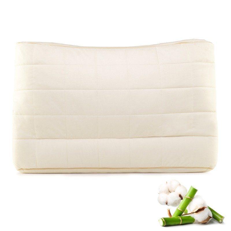 Edinstvena kombinacija klasičnega in nižjega anatomskega vzglavnika Bamboo Lower Side Sleep vas bo navdušila z udobjem, saj ga lahko poljubno nastavljate po višini in trdoti. Vzglavnik je idealna izbira za vse, ki imate ožja ramena in najpogosteje spite na boku ali hrbtu. Vzglavnik je v celoti pralen na 60 °C.