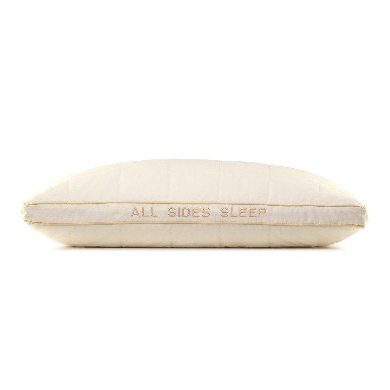 Klasična oblika vzglavnika All Sides Sleep vas bo zagotovo prepričala s svojo univerzalnostjo, saj je vzglavnik primeren za vse spalne položaje. Vaša koža bo v stiku s 100 % nebeljenim bombažem in bambusovimi vlakni za več svežine in higienično spalno okolje. Vzglavnik je v celoti pralen na 60 °C.