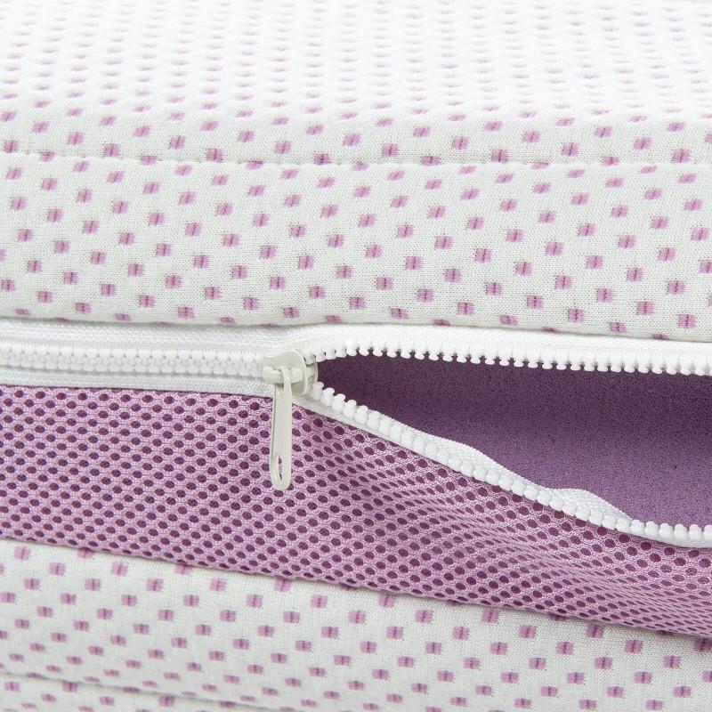 7-consko penasto ležišče Hitex Lavender Comfort 16 je visoko 16 cm in poskrbi za popolno podporo vašega telesa in udobje ter zagotavlja, da se boste zjutraj zbudili spočiti in naspani. Ortopedsko jedro iz visokoelastične poliuretanske pene se telesu popolnoma prilagodi in mu zagotavlja kvaliteten počitek. Za dodatno ugodje poskrbi nežen vonj sivke v prevleki, ki pomirja, odpravlja napetost in nespečnost. Prevleka ležišča je snemljiva in pralna na 40 °C.