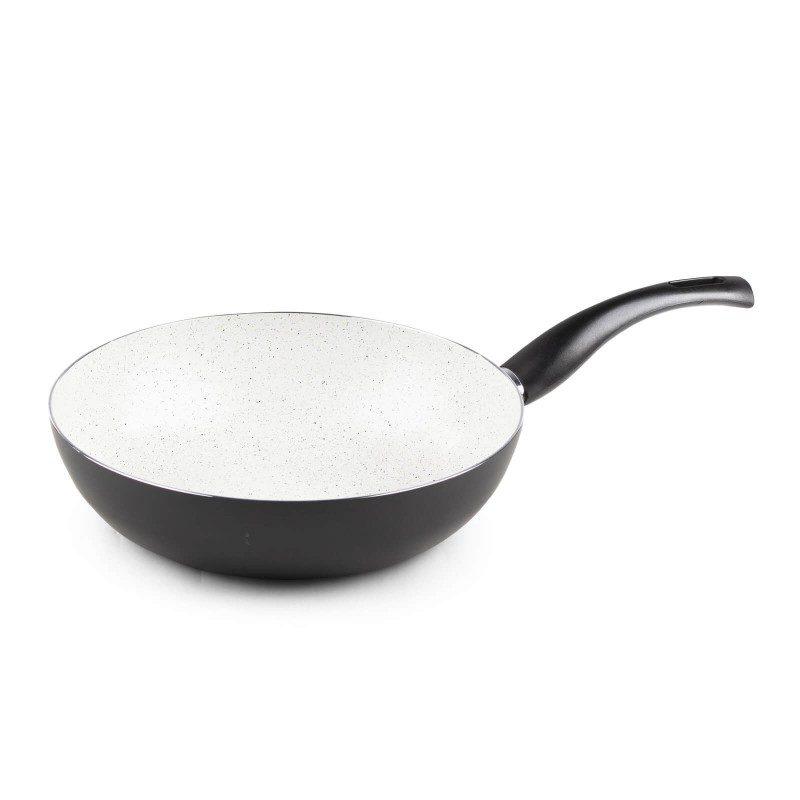 Vok Eco Cook premera 28 cm z neoprijemljivim gladkim mineralnim premazom omogoča naraven način kuhanja in pečenja, z malo maščobami. Hrana tako zadrži vse potrebne vitamine in minerale, ki jih naše telo potrebuje za zdrav način življenja. Primeren je za vsa kuhališča, tudi indukcijo, enostaven za pomivanje, tudi v pomivalnem stroju. Vsa posoda iz linije Eco Cook temelji na večslojni sestavi, s čimer je zagotovljena dolga življenjska doba ter visoka stopnja odpornosti in vzdržljivosti posode.
