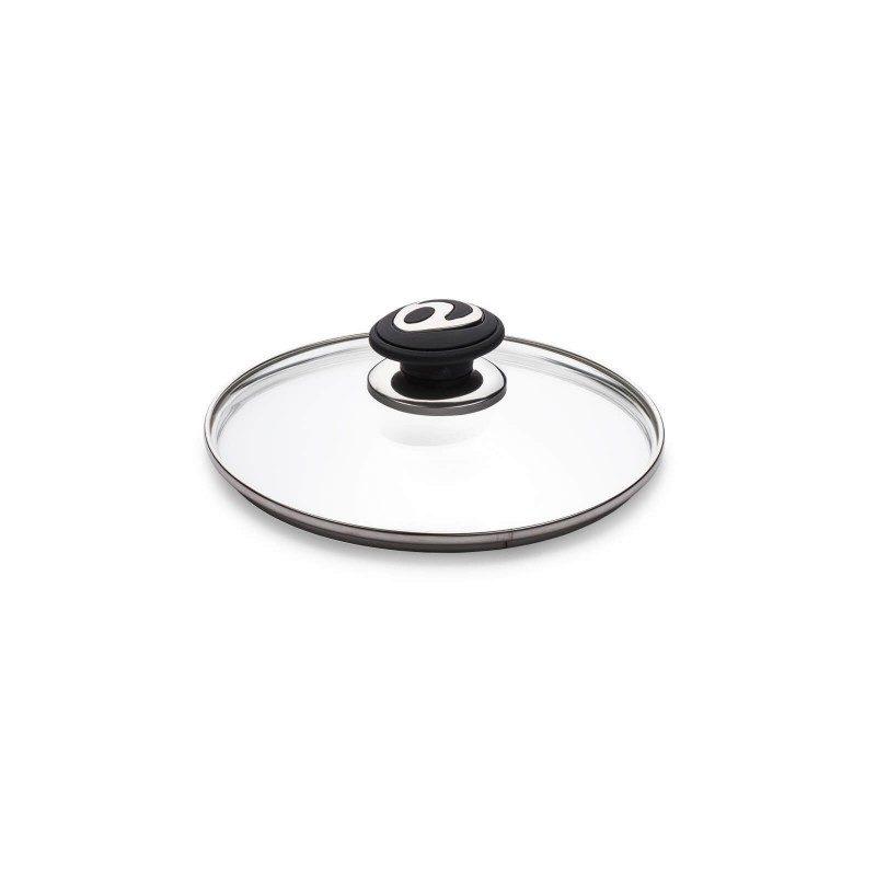 Pokrovka Rosmarino Black Lava Stone je izdelana iz kakovostnega in trpežnega stekla. Z odprtino za odvečno paro v vsakem trenutku omogoča vpogled v posodo in tako preprečuje prekipevanje. Ergonomsko oblikovan SoftTouch ročaj je odporen na vročino in se ne pregreva, zato je oprijem lažji in varnejši. Pokrovka se prilega vsem posodam in je pralna v pomivalnem stroju.