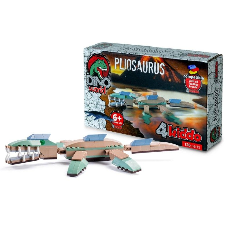 Sestavi pliozavra! Morskega predatorja sestavi iz 126 kock, ki so združljive z drugimi znamkami.