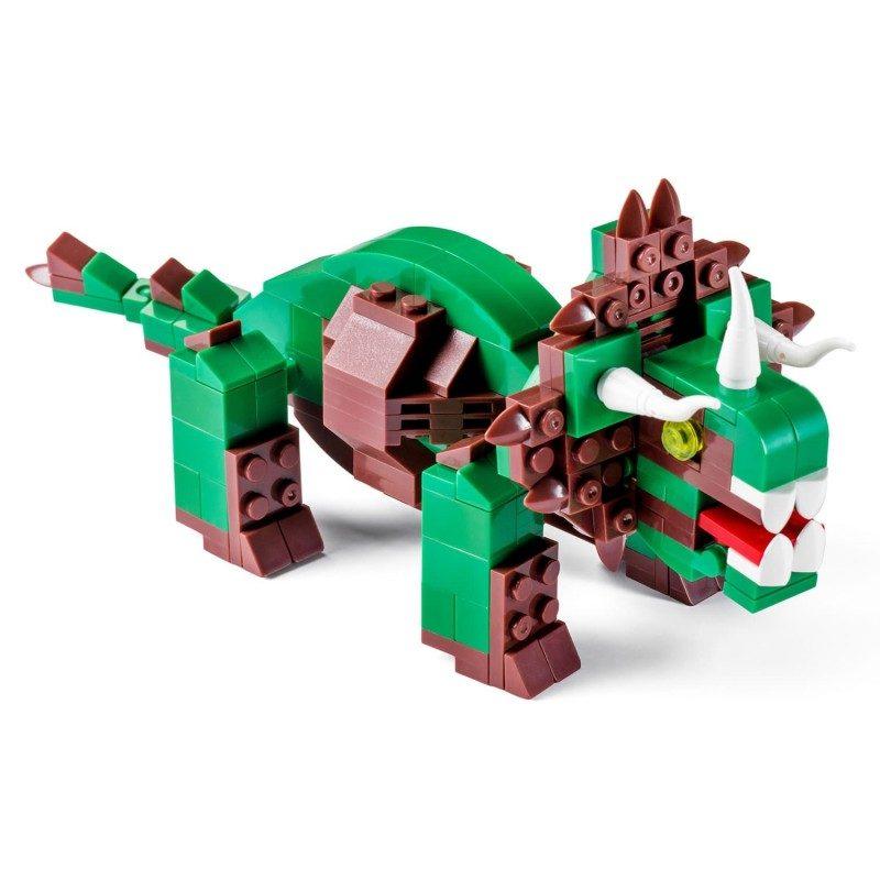 Sestavi triceratopa! Enega najbolj znanih rastlinojedcev sestavi iz 206 kock, ki so združljive z drugimi znamkami.