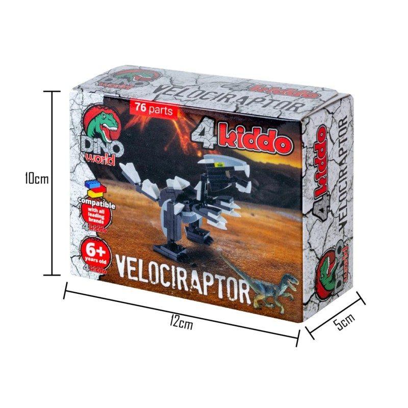 Sestavi velociraptorja! Spretnega lovca v tropu sestavi iz 76 kock, ki so združljive z drugimi znamkami.