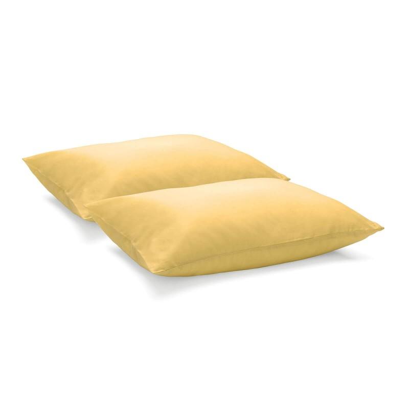 Set prevlek za vzglavnik Ivonne predstavlja idealno rešitev, ko ne potrebujete celotne posteljnine. Prevleki sta iz renforce platna, ki velja za lahko, mehko tkanino, preprosto za vzdrževanje. Klasične enobarvne prevleke za kombiniranje k različnim dizajnom posteljnine. Prevleki sta pralni na 60 °C.