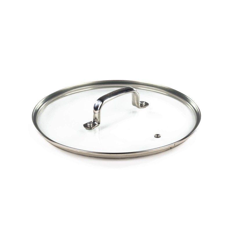 Pokrovka Rosmarino Basté je izdelana iz kakovostnega in trpežnega stekla. Z odprtino za odvečno paro v vsakem trenutku omogoča vpogled v posodo in tako preprečuje prekipevanje. Ergonomsko oblikovan ročaj iz nerjavečega jekla je odporen na vročino in se ne pregreva, zato je oprijem lažji in varnejši. Pokrovka ima kompakten, odebeljen rob, ki omogoča še boljši stik s posodo in onemogoča drsenje pokrovke s posode. Pokrovka je pralna v pomivalnem stroju.