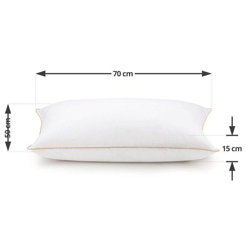 Klasična oblika vzglavnika iz puha Finland Premium velja za pravi vzglavnik udobja. Zagotavlja odlično podporo za spanje v vseh spalnih položajih, njegova izjemna mehkoba pa bo navdušila predvsem tiste, ki radi spite na trebuhu. Celoten vzglavnik je narejen iz 100 % naravnih materialov. Vzglavnik je v celoti pralen na 30 °C.