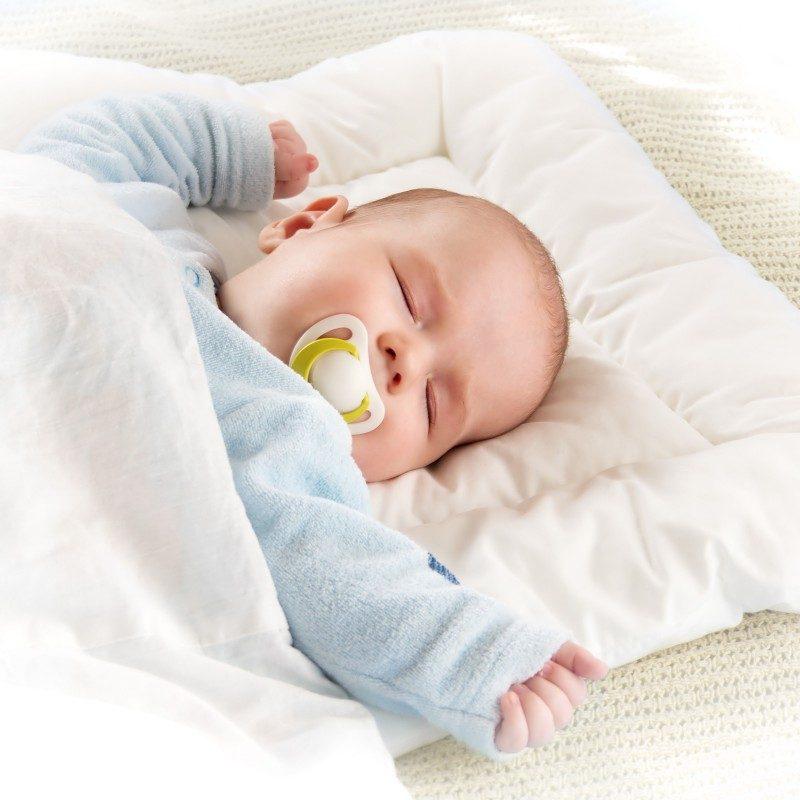 Komplet otroške odeje in vzglavnika Meow je prilagojen za spanje v prvih otroških mesecih. Vzglavnik zaradi svoje višine in oblike nudi popolno podporo otroški glavi, je nizek in mehak ter tako pripomore k mirnejšemu otrokovemu spanju. Tkanina iz nebeljenega bombaža je povsem naravna in primerna za občutljivo otrokovo kožo. Bambusova vlakna v polnilu odlično absorbirajo vlago in ohranjajo spalni prostor svež in higieničen. Kombinacija nebeljenega bombaža in bambusovih vlaken tako zagotavlja, da se vaš otrok med spanjem ne bo potil in da bosta odeja in vzglavnik dihala z njim. Delež mikrovlaken v polnilu pa daje setu mehkobo in povečuje zračnost. Komplet je v celoti pralen na 60°C in je primeren tudi za alergike in astmatike.