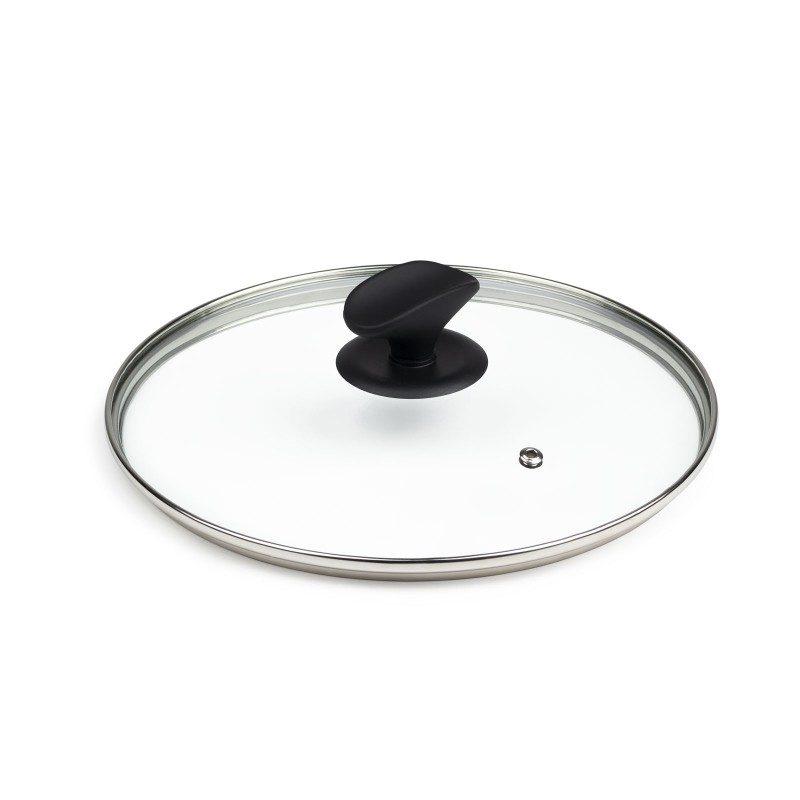 Pokrovka Rosmarino je izdelana iz kakovostnega in trpežnega stekla. Z odprtino za odvečno paro v vsakem trenutku omogoča vpogled v posodo in tako preprečuje prekipevanje. Z ergonomsko oblikovanim ročajem SoftTouch je oprijem še lažji, ročaj pa služi tudi kot praktično odlagalno mesto za kuhalnico ali kateri drug kuhinjski pripomoček. Univerzalna pokrovka se prilega vsem posodam in je pralna v pomivalnem stroju.