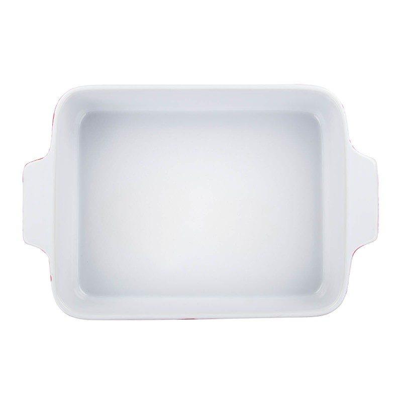 Večji keramični pekač Rosmarino iz visokokakovostne keramike, žgane pri temperaturi 1200 °C, je izjemno trpežen, fine strukture in odporen na razne kemične vplive. Z modernim videzom in zunanjostjo v rdeči barvi bo vaš novi nepogrešljiv pripomoček pri peki. Zaradi sestave iz trpežne keramike je pekač odporen tudi na visoke temperature do 220 °C, poleg pečice pa je primeren tudi za uporabo v mikrovalovki. Primeren je tudi za hrambo v hladilniku ali zamrzovalniku ter za pomivanje v pomivalnem stroju. Idealen pripomoček za peko mesa, rib, zelenjave, lazanj in peciva.