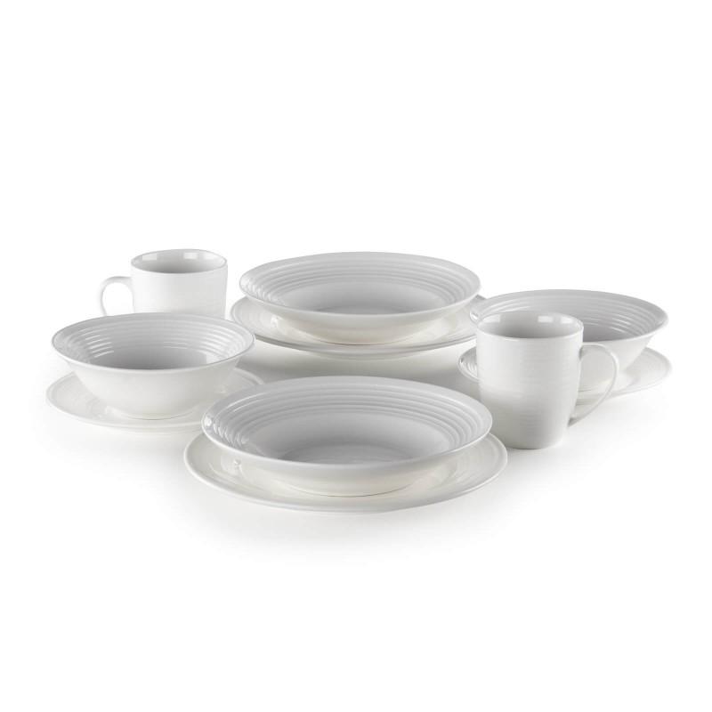 Linija porcelana Rosmarino Cucina Deko navdušuje s svojim dovršenim dizajnom in snežno belino za brezmejno eleganco. Uživajte v svojih najljubših obrokih! Solatna skleda je izdelana iz visokokakovostnega in vzdržljivega porcelana. Njena velikost je idealna tako za serviranje solate kot tudi številnih prilog h glavnim jedem. Gladek in sijoč porcelan bo dodal vaši mizi klasično lepoto in dodano vrednost ter bo zagotovo navdušil tako domače kot goste. Porcelan s svojim videzom ni primeren le za domačo uporabo, ampak se s svojim prefinjenim izgledom odlično poda tudi v okolje profesionalne kuhinje.