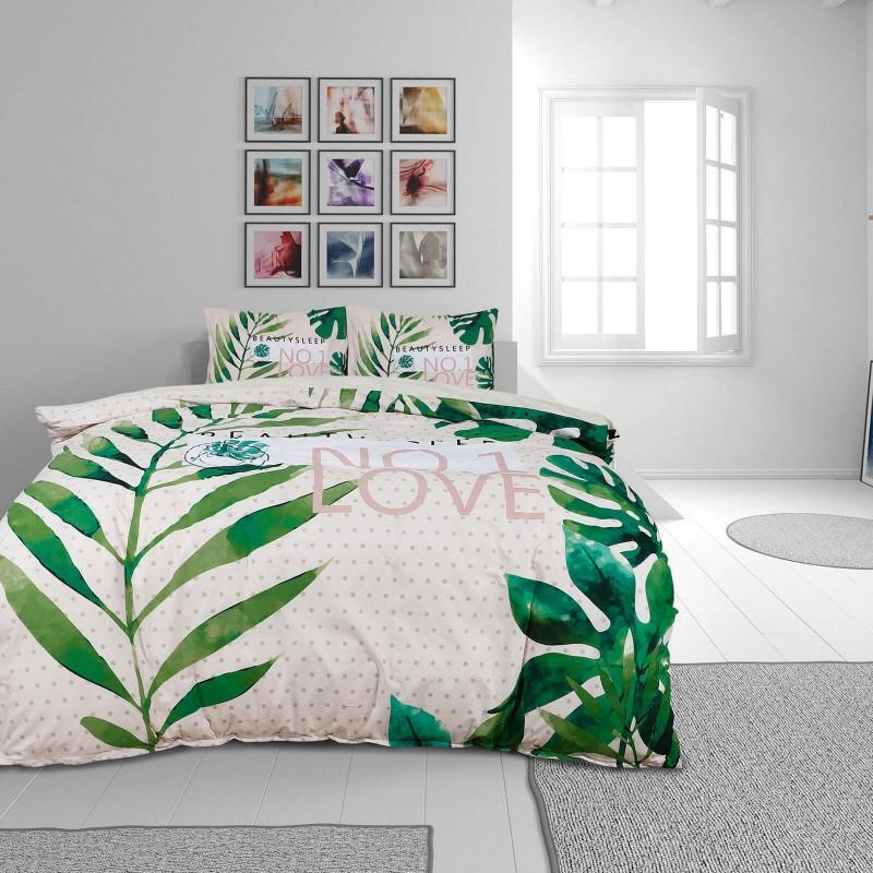 Čas je za popolno razvajanje z moderno bombažno posteljnino! Posteljnina Beauty Sleep je iz renforce platna, ki velja za lahko, mehko tkanino, preprosto za vzdrževanje. Naj vas očara moderen dizajn s cvetličnim vzorcem. Posteljnina je pralna na 40 °C.