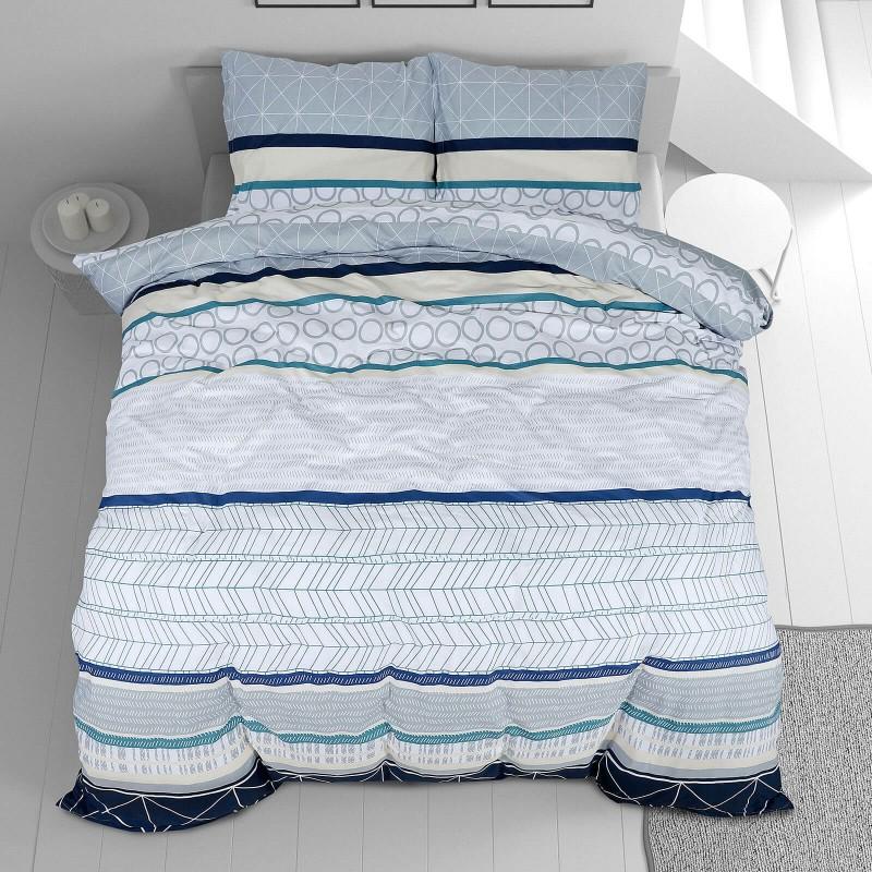 Čas je za popolno razvajanje z moderno bombažno posteljnino! Posteljnina Odet je iz renforce platna, ki velja za lahko, mehko tkanino, preprosto za vzdrževanje. Naj vas očara moderen dizajn s črtami. Posteljnina je pralna na 40 °C.