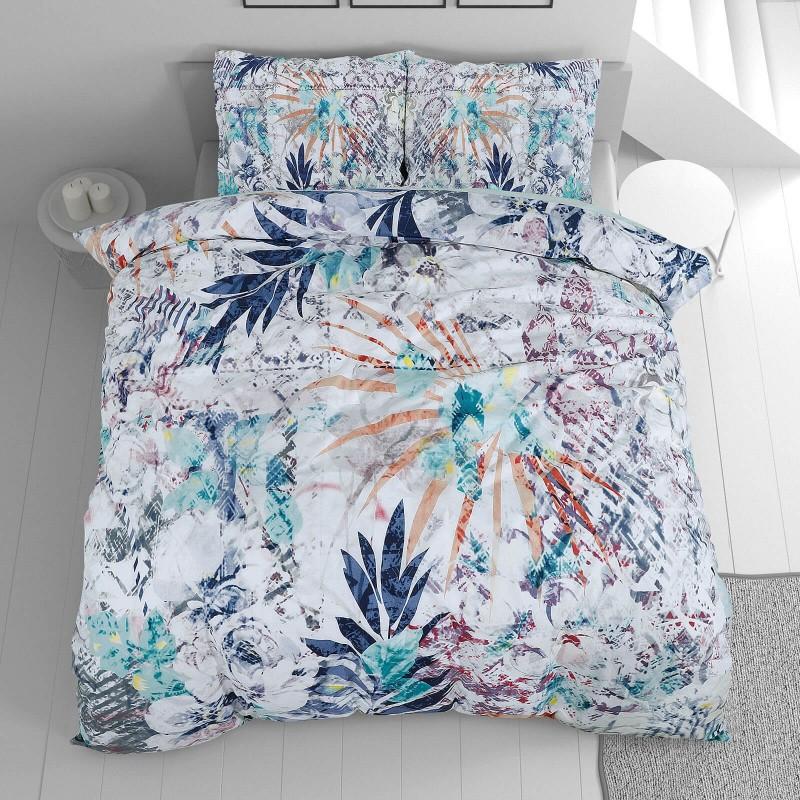 Čas je za popolno razvajanje z moderno bombažno posteljnino! Posteljnina Leaves je iz renforce platna, ki velja za lahko, mehko tkanino, preprosto za vzdrževanje. Naj vas očara moderen dizajn z motivom listov. Posteljnina je pralna na 40 °C.