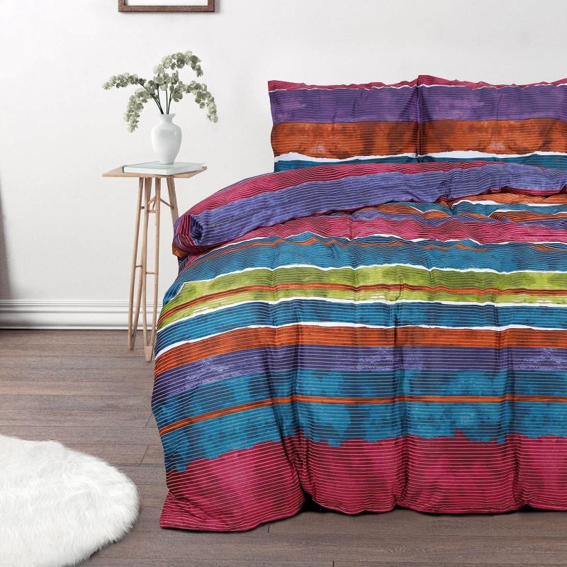 Čas je za popolno razvajanje z moderno bombažno posteljnino! Posteljnina Minela je iz mehkega bombažnega satena, ki je stkan iz visokokakovostne, tanke preje. Posteljnina iz satena je tako čudovit okras vaše spalnice in hkrati odlična izbira za udoben in prijeten spanec. Naj vas očara moderen dizajn s črtami. Posteljnina je pralna na 40 °C.
