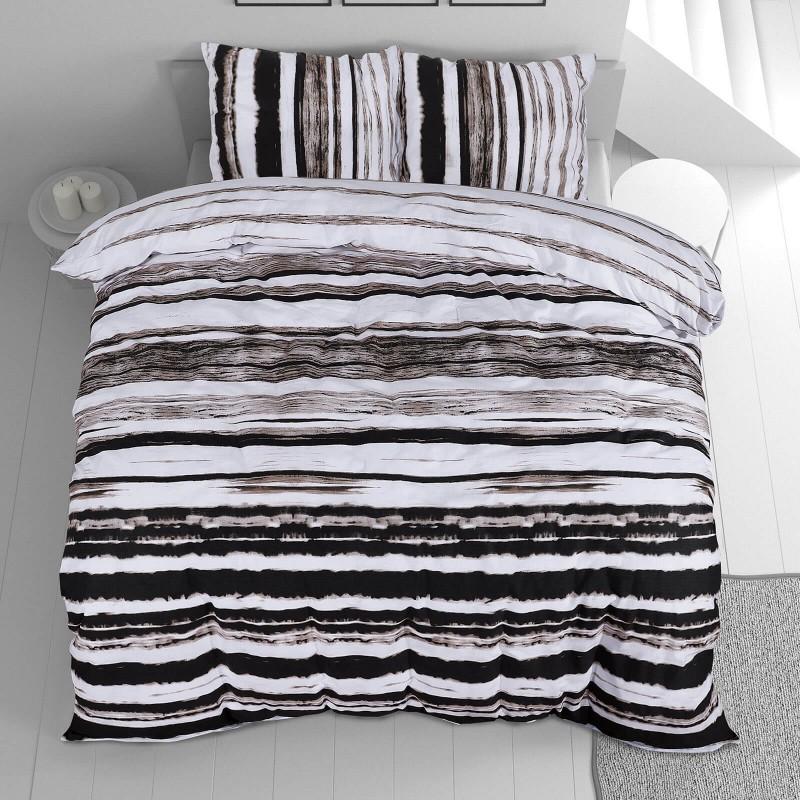 Čas je za popolno razvajanje z moderno bombažno posteljnino! Posteljnina Aron je iz renforce platna, ki velja za lahko, mehko tkanino, preprosto za vzdrževanje. Naj vas očara moderen dizajn z motivom črt. Posteljnina je pralna na 40 °C.