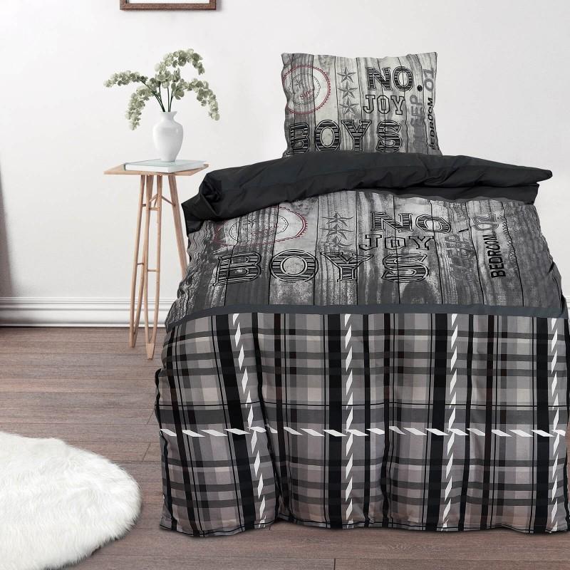Poskrbite za miren in udoben spanec svojih najmlajših z bombažno posteljnino! Prikupen otroški motiv bo otroke zagotovo navdušil in popeljal v čudovito sanjsko deželo. Posteljnina Boys je iz renforce platna, ki velja za lahko, mehko tkanino, preprosto za vzdrževanje. Posteljnina je pralna na 40 °C.