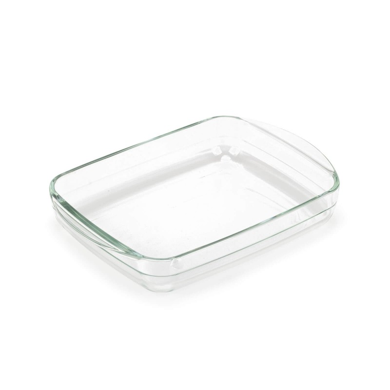 Stekleni pekač Rosmarino Bake&Go (1600 ml) sodobnega videza bo vaš novi nepogrešljiv pripomoček pri peki. Zaradi sestave iz borosilikatnega stekla je pravokotni pekač odporen tudi na visoke temperature v pečici ali mikrovalovni pečici, primeren za hrambo v hladilniku in pomivanje v pomivalnem stroju. Idealen pripomoček za pripravo lazanj, gratiniranih testenih, mesa, rib, peko pit, zelenjave ali drugih raznolikih jedi.