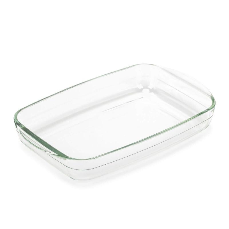 Stekleni pekač Rosmarino Bake&Go (2600 ml) sodobnega videza bo vaš novi nepogrešljiv pripomoček pri peki. Zaradi sestave iz borosilikatnega stekla je pravokotni pekač odporen tudi na visoke temperature v pečici ali mikrovalovni pečici, primeren za hrambo v hladilniku in pomivanje v pomivalnem stroju. Idealen pripomoček za pripravo lazanj, gratiniranih testenih, mesa, rib, peko pit, zelenjave ali drugih raznolikih jedi.