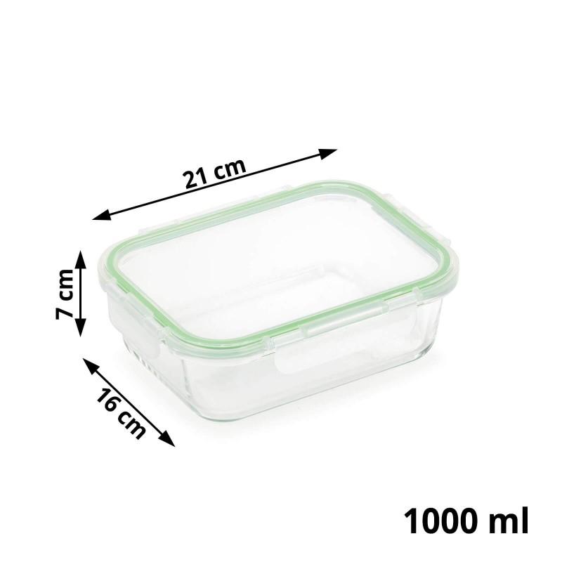 Stekleni pekač s pokrovom Rosmarino Bake&Go (1000 ml) sodobnega videza bo vaš novi nepogrešljiv pripomoček pri peki, shranjevanju hrane ali celo obroku na poti. Pekač s steklenim pokrovom je zaradi dodanega silikonskega tesnila nepropusten za zrak in tekočine, zato bo shranjevanje in tudi prenašanje hrane na poti vaša nova obsesija! Borosilikatno steklo je trpežno in odporno na različne udarce ali mehanske poškodbe, hkrati pa v hrano ne izloča škodljivih snovi in ne pušča umetnega vonja ali okusa. Pekač je odporen tudi na visoke temperature v pečici ali mikrovalovni pečici, primeren za hrambo v hladilniku in pomivanje v pomivalnem stroju. Idealen pripomoček za pripravo lazanj, gratiniranih testenih, peko pit in hkrati tudi odličen za shranjevanje že pripravljenih obrokov. Tudi za vaše najljubše obroke na poti.