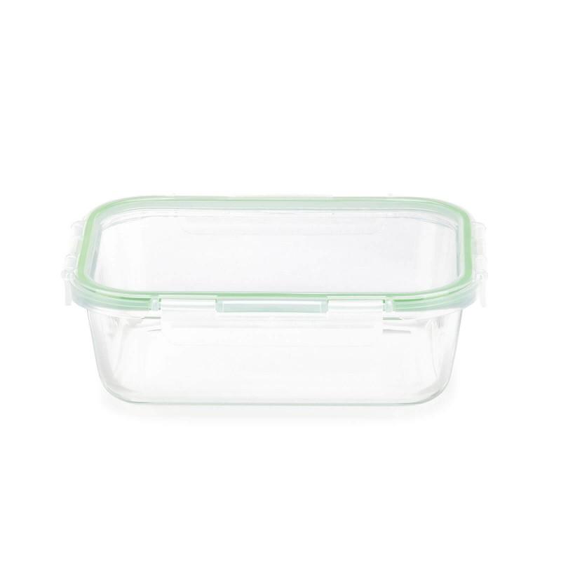 Stekleni pekač s pokrovom Rosmarino Bake&Go (1500 ml) sodobnega videza bo vaš novi nepogrešljiv pripomoček pri peki, shranjevanju hrane ali celo obroku na poti. Pekač s steklenim pokrovom je zaradi dodanega silikonskega tesnila nepropusten za zrak in tekočine, zato bo shranjevanje in tudi prenašanje hrane na poti vaša nova obsesija! Borosilikatno steklo je trpežno in odporno na različne udarce ali mehanske poškodbe, hkrati pa v hrano ne izloča škodljivih snovi in ne pušča umetnega vonja ali okusa. Pekač je odporen tudi na visoke temperature v pečici ali mikrovalovni pečici, primeren za hrambo v hladilniku in pomivanje v pomivalnem stroju. Idealen pripomoček za pripravo lazanj, gratiniranih testenih, peko pit in hkrati tudi odličen za shranjevanje že pripravljenih obrokov. Tudi za vaše najljubše obroke na poti.