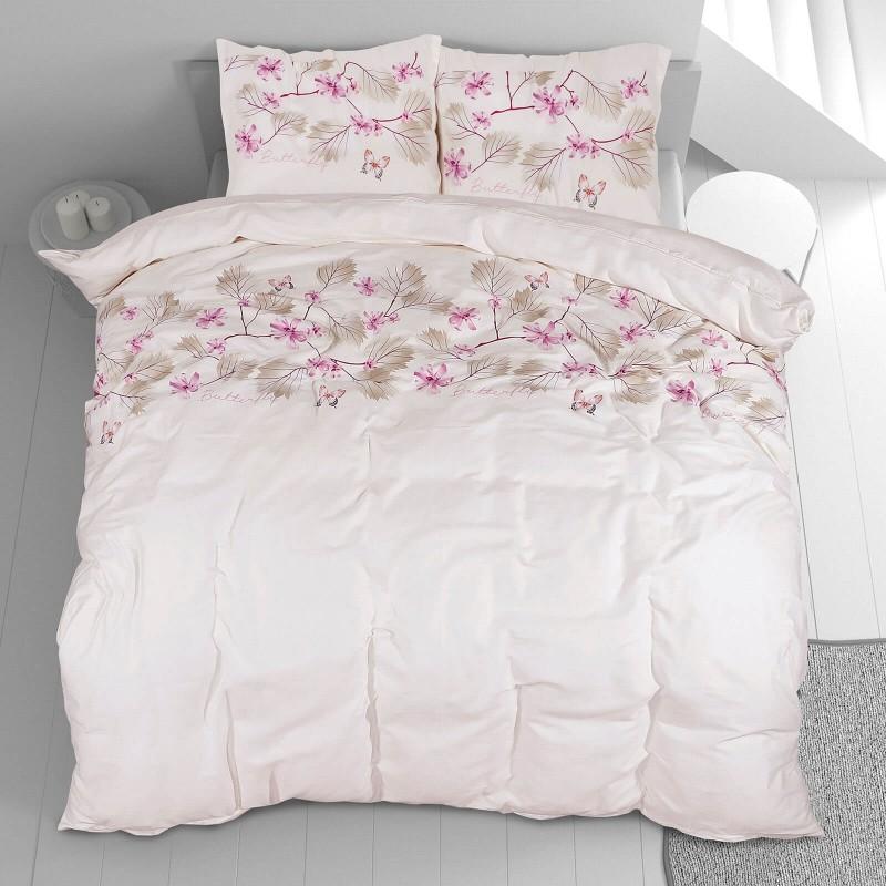 Čas je za popolno razvajanje z moderno bombažno posteljnino! Posteljnina Spring Dreams je iz mehkega bombažnega satena, ki je stkan iz visokokakovostne, tanke preje. Posteljnina iz satena je tako čudovit okras vaše spalnice in hkrati odlična izbira za udoben in prijeten spanec. Naj vas očara moderen dizajn s potiskom cvetlic. Posteljnina je pralna na 40 °C.