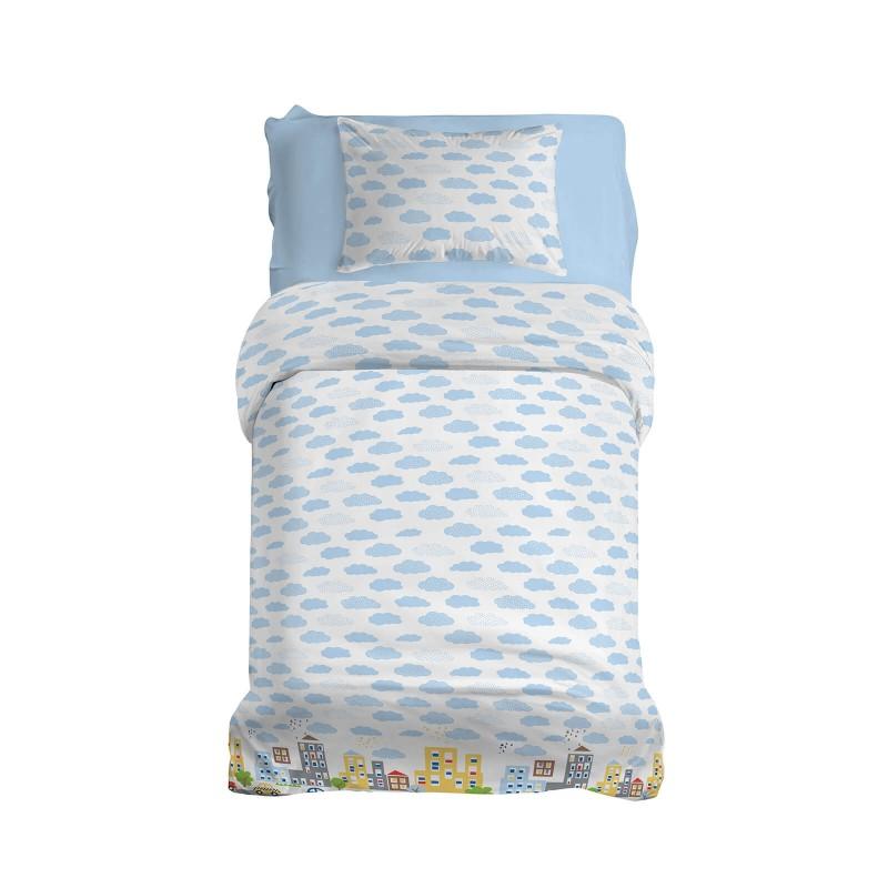 Poskrbite za miren in udoben spanec svojih najmlajših z bombažno posteljnino! Prikupen otroški motiv bo otroke zagotovo navdušil in popeljal v čudovito sanjsko deželo. Posteljnina Wheels on the Bus je iz renforce platna, ki velja za lahko, mehko tkanino, preprosto za vzdrževanje. Posteljnina je pralna na 40 °C.