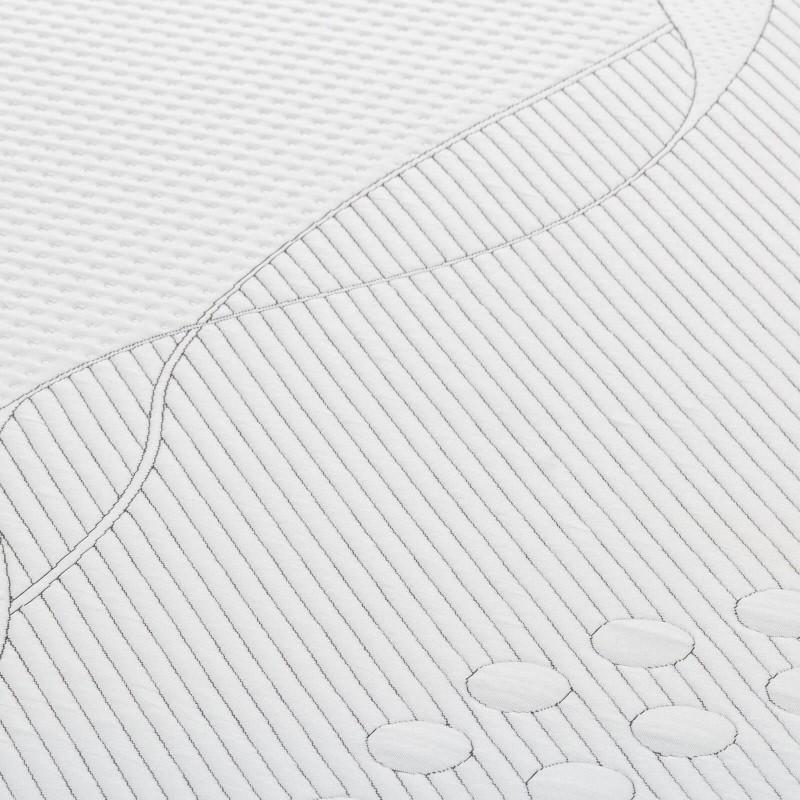 Inovativno hibridno ležišče Hitex ZEN 24 je visoko 24 cm in s svojo sestavo poskrbi za edinstveno spalno izkušnjo. Trpežna poliuretanska pena, odzivna spominska pena in luknjičasta struktura lateksa so sinonim za popoln spanec. Vsestransko ležišče ZEN je primerno za različne spalne položaje in osebe z različnimi telesnimi konstitucijami in spalnimi navadami. Prevleka ležišča je snemljiva in pralna na 40 °C.