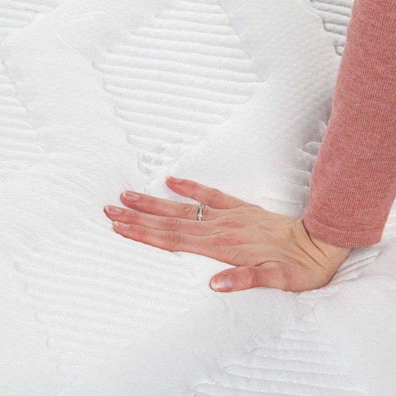 Vzmeteno ležišče Hitex City Wave 20 je visoko 20 cm in poskrbi za popolno podporo vašega telesa in za udobje ter zagotavlja, da se boste zjutraj zbudili spočiti in naspani. Sistem enojnega vzmetenja Single Spring v kombinaciji z dodatno plastjo filca v jedru, s tremi plasti hladno stiskane pene Sensa Memory in še 2 cm v prevleki poskrbijo za pravilno lego, razbremenjeno hrbtenico in sproščujoč spanec.