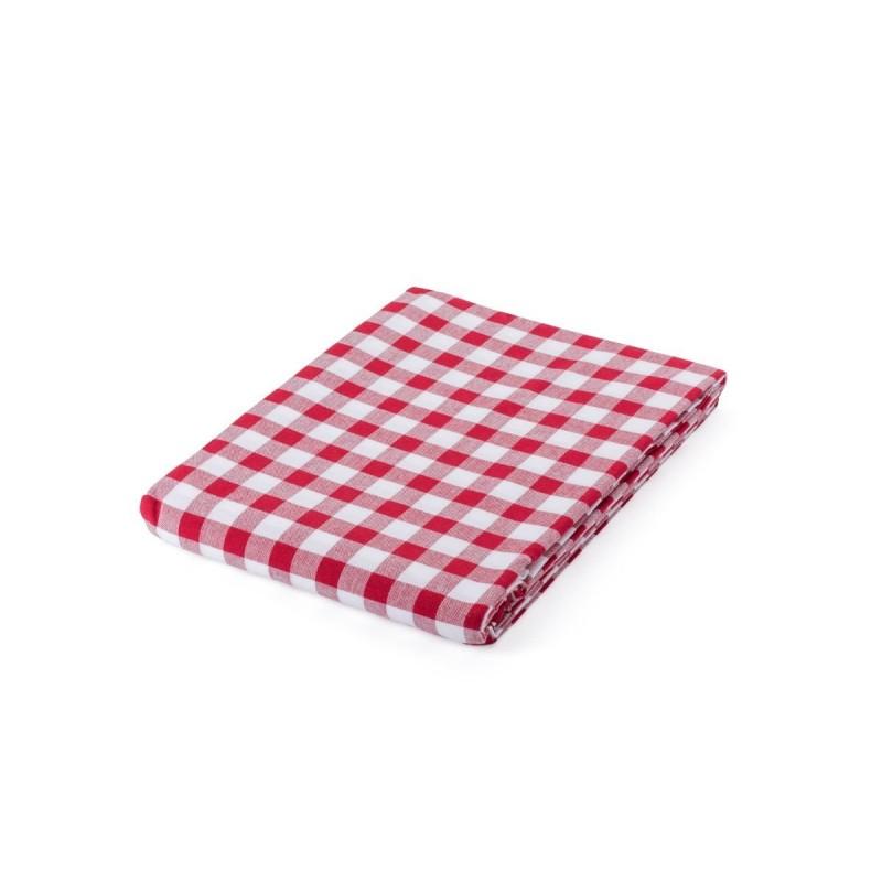 Kakovosten bombažni prt, na katerem boste lahko postregli vsakodnevne obroke, primeren pa je tudi za posebne priložnosti. V rustikalnem karo vzorcu, dimenzij 140 x 200 cm.