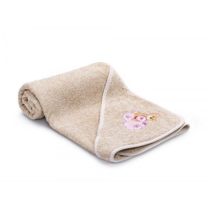 Otroška brisača s kapuco je izdelana iz 100 % bombaža. Najmlajše bo navdušila z vezenim motivom medvedka v roza barvi. V dimenzijah 80 x 80 cm.