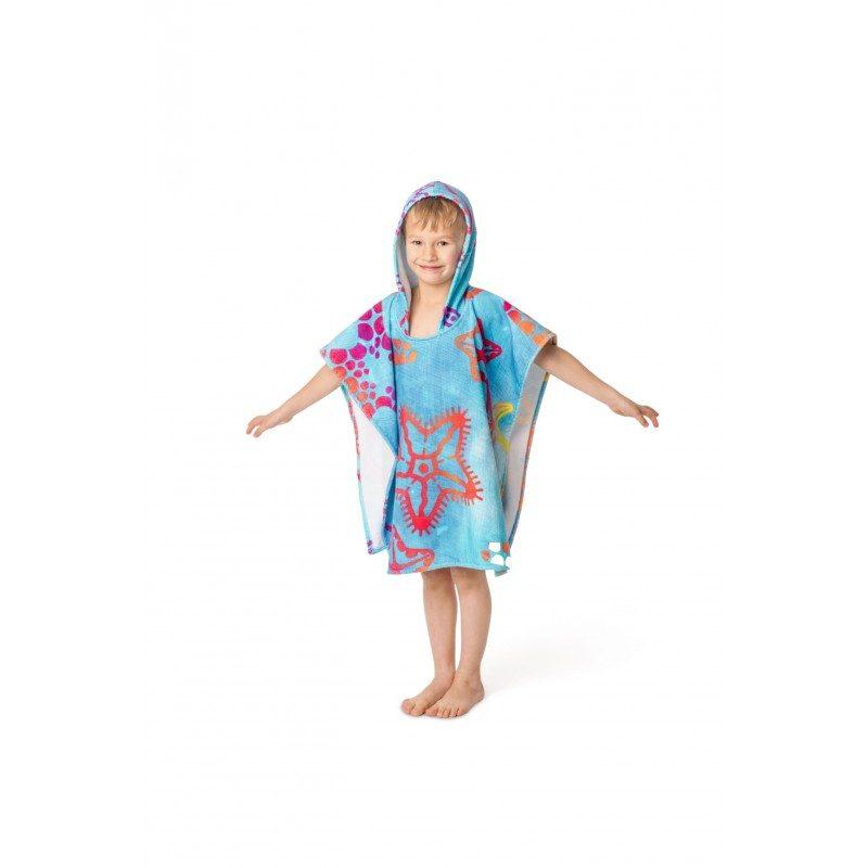 Otroški pončo za najmlajše s poletnim motivom je primeren tako za deklice kot dečke.