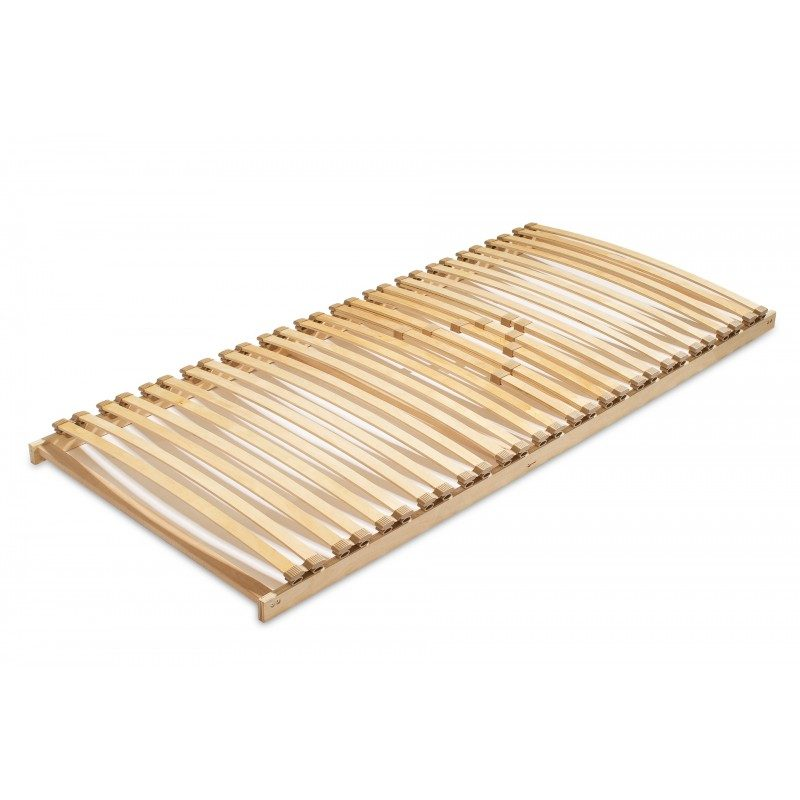 Izjemno trpežno vpeto letveno dno HitoFlex-fiksno poskrbi za pravilno podporo telesa in podaljšuje življenjsko dobo vašega ležišča. 5 letvic z regulatorji trdote omogočajo boljšo prilagoditev v ledveno-bočnem predelu. Trpežni prečniki iz masivnega bukovega lesa so jamstvo za čvrstost in stabilnost letvenega dna, saj s svojo gostoto in masivnostjo odlično prenašajo tudi večje obremenitve. Postavitev letvic je osnovana tako, da omogoča optimalno zračnost po celotni dolžini ležišča, ki tako ostane suho in sveže skozi celo noč. Vpeto prožno letveno dno priporočamo za ležišča iz pene in lateksa, ki potrebujejo dodatno vzmetenje in ustrezno zračenje.