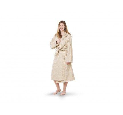 Ženski kopalni plašč s kapuco Svilanit Relax – bež