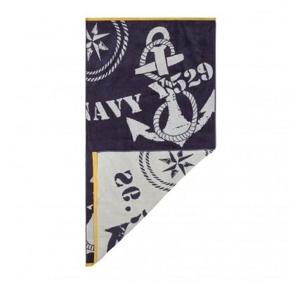 Brisača za na plažo Svilanit Navy Anchors