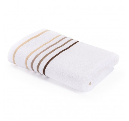 Brisača Svilanit Rainbow - belo-peščena