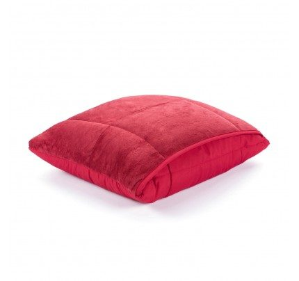 Dekorativna odeja/vzglavnik Vitapur SoftTouch 4v1 - rdeča