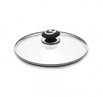 Steklena pokrovka Rosmarino Black Lava Stone - 24 cm