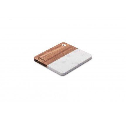 Deska za rezanje Rosmarino iz akacijevega lesa in marmorja