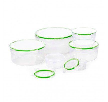 12-delni set okroglih plastičnih posod za shranjevanje živil Rosmarino