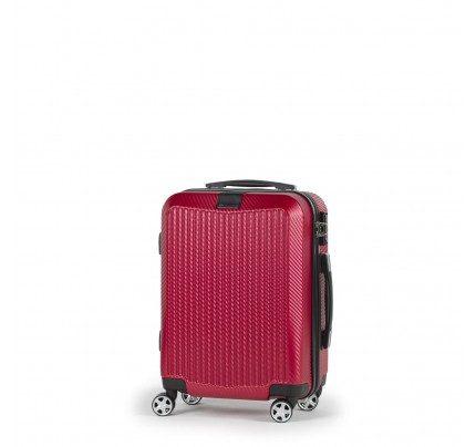 Potovalni kovček Scandinavia Carbon Series - rdeč, 40 l