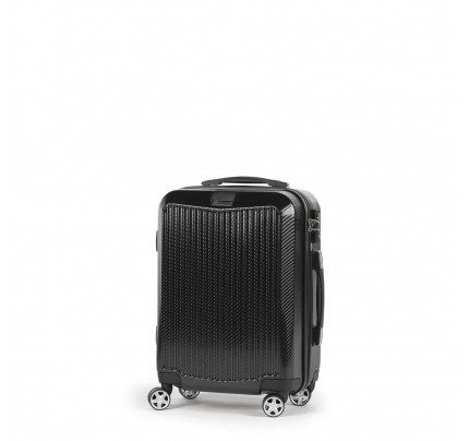 Potovalni kovček Scandinavia Carbon Series - črn, 40 l