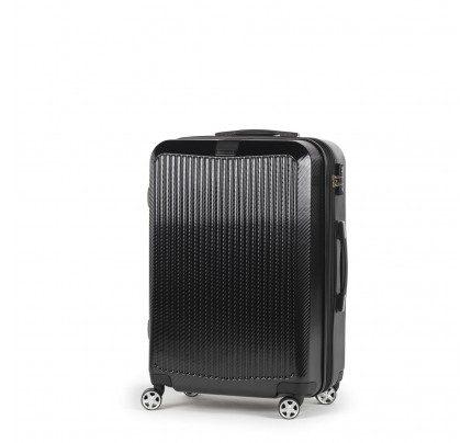 Potovalni kovček Scandinavia Carbon Series - črn, 65 l