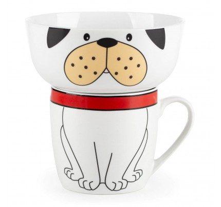 2-delni otroški set za zajtrk iz porcelana Rosmarino - pes