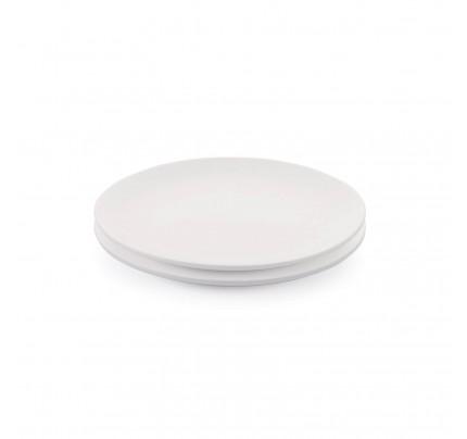 Set 2 desertnih porcelanastih krožnikov Rosmarino Cucina Bianca - 21 cm