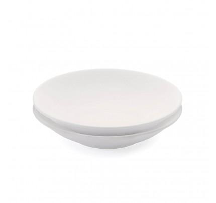 Set 2 jušnih porcelanastih krožnikov Rosmarino Cucina Bianca - 21 cm