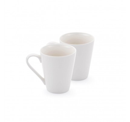 Set 2 porcelanastih lončkov Rosmarino Cucina Bianca - 325 ml